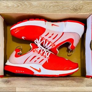 Nike Air Presto 'Comet Red' White Running Shoes